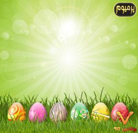 وکتور ترسیمی تخم مرغ تزئینی نوروز