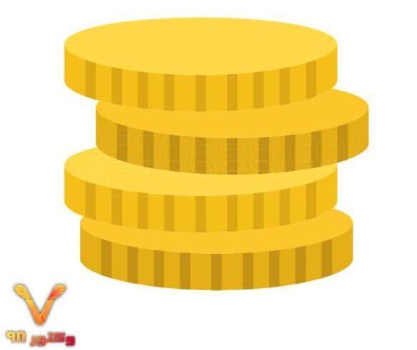 آیکون لایه باز سکه طلا سفره هفت سین