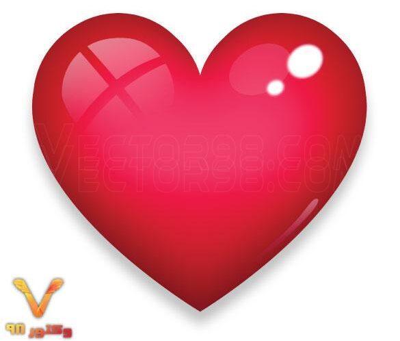 تصویر لایه باز قلب قرمز