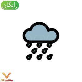 وکتور ابر و باران