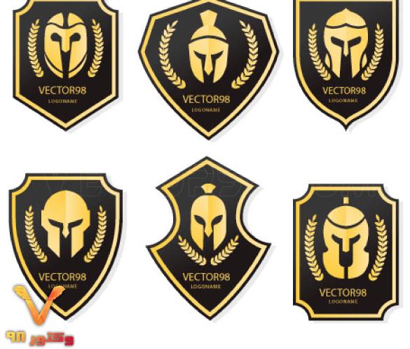 Modern-warrior-sports-logo-collection