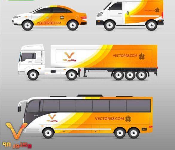 وکتور ماشین های حمل نقل