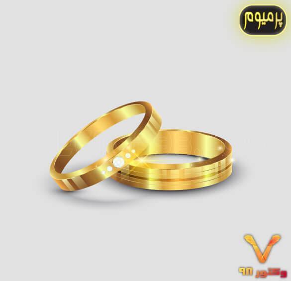 وکتور حلقه ازدواج