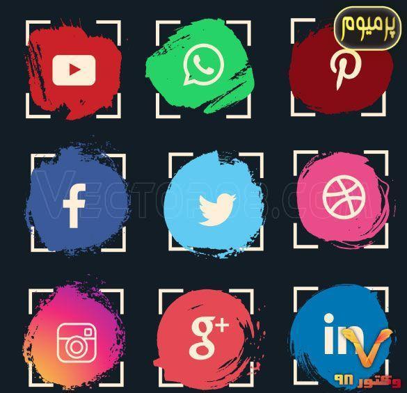 watercolor-social-media-icon-set