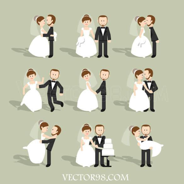 وکتور عروس داماد