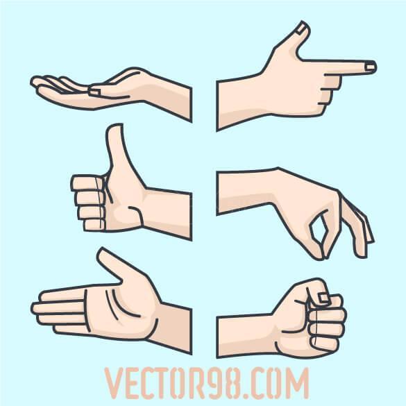 وکتور دست