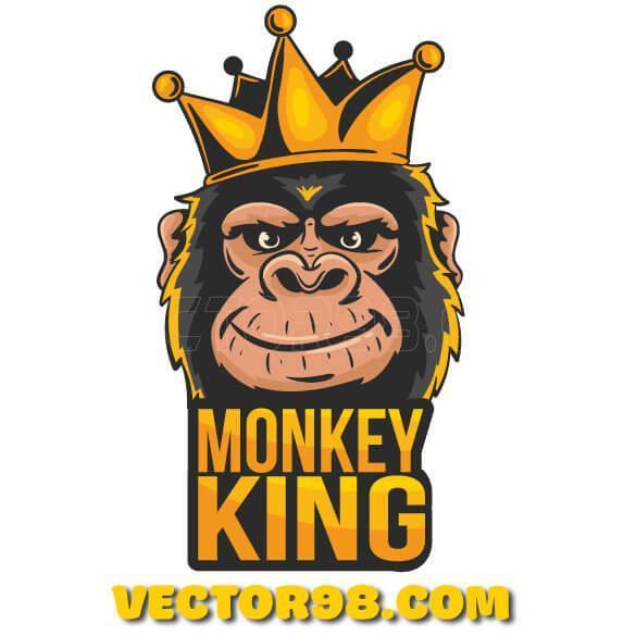 وکتور گرافیکی لوگو شاه میمون