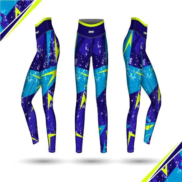 وکتور شلوار ورزشی زنانه آبی