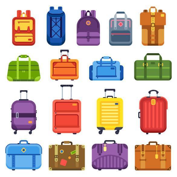 وکتور کیف و چمدان