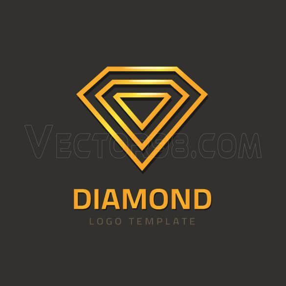 لوگو الماس مدرن