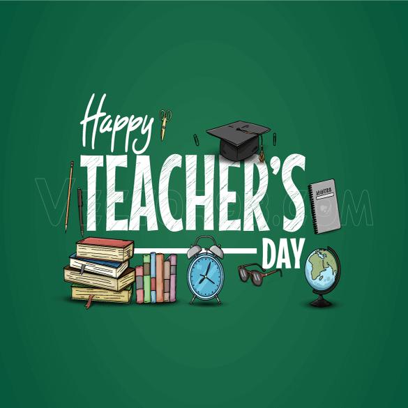 وکتور تبریک روز معلم