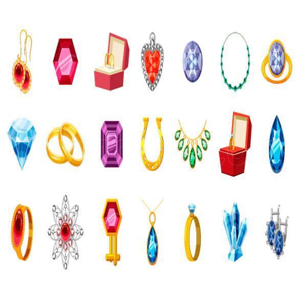 وکتور زیورآلات و جواهرات