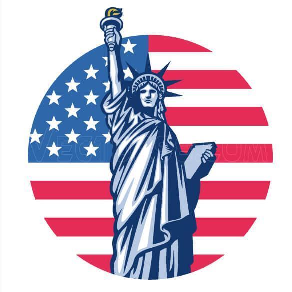 وکتور تندیس آزادی آمریکا