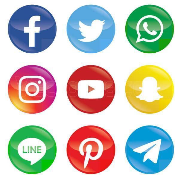 آیکون های شبکه اجتماعی مدرن