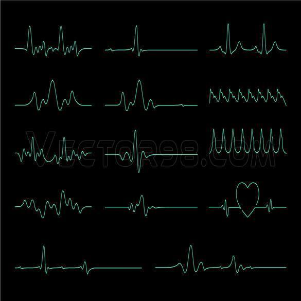 وکتور ضربان قلب