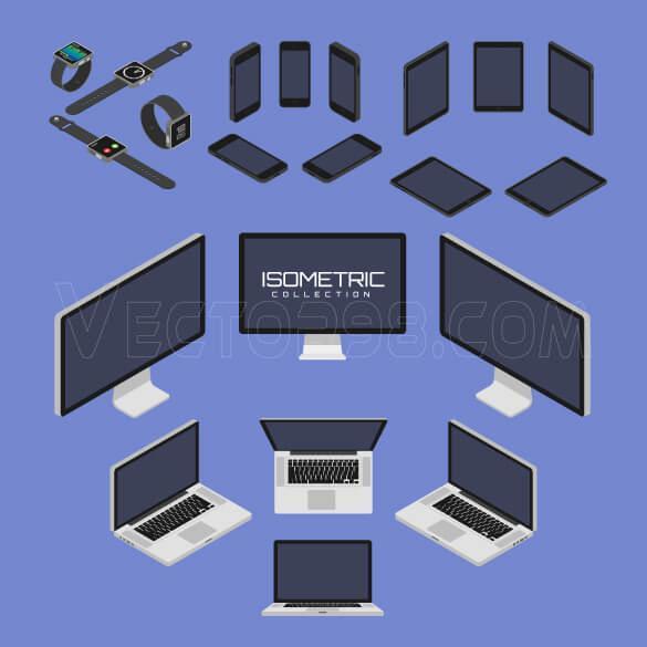 وکتور کامپیوتر و لپ تاپ