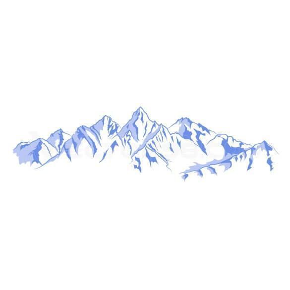 وکتور ترسیمی کوه برفی