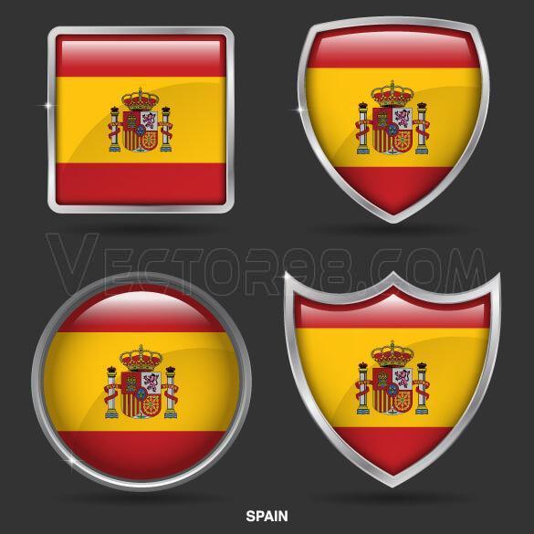 وکتور لوگو پرچم اسپانیا