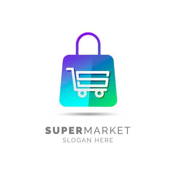 وکتور لوگو سوپر مارکت