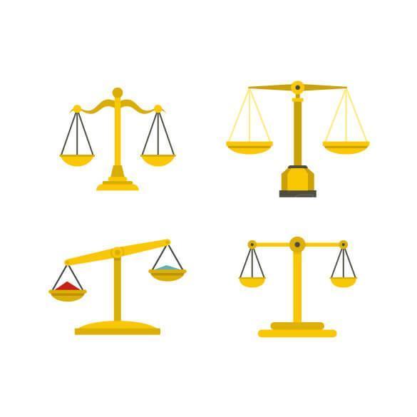 وکتور ترازوی عدالت