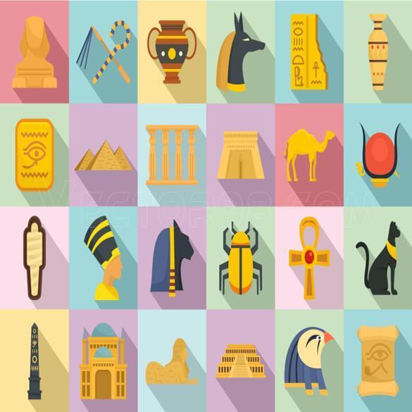 وکتور عناصر مصر