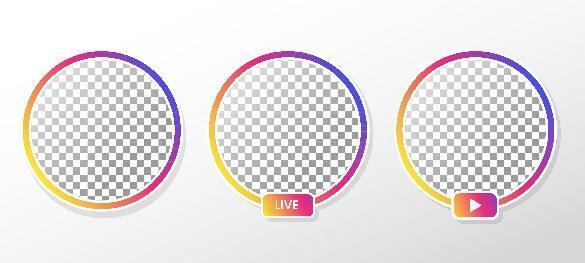 وکتور دایره رنگی پروفایل اینستاگرام