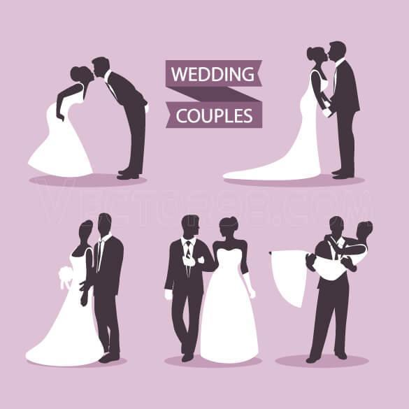 دانلود وکتور عروس و داماد