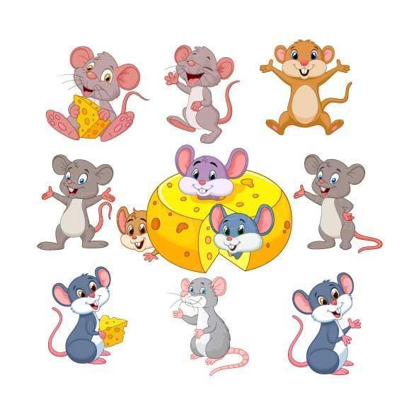 وکتور کارتونی موش
