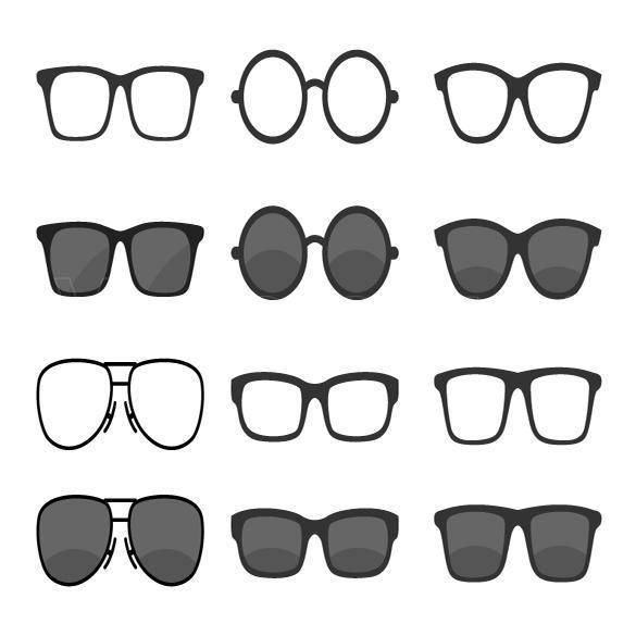 وکتور عینک